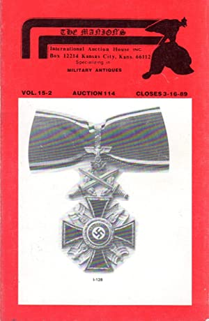 Imperial German Militaria & Fire Arms: Auction 114, Vol. 15-2, Closes 3-16-89