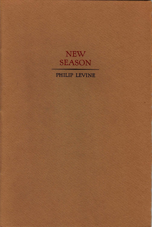 New Season Levine, Philip Fine Softcover