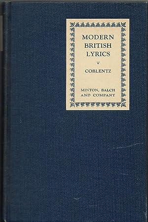 Modern British Lyrics: Coblentz, Stanton (Editor)