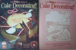 1989 Wilton Yearbook Cake Decorating Magazine and 1989 Wilton Pattern Cake Decorating Book