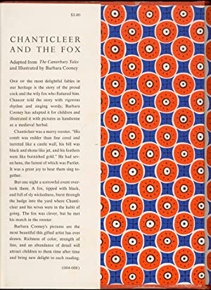 Chanticleer and the Fox: Geoffrey Chaucer; Barbara Cooney [Adapter]; Barbara Cooney [Illustrator];