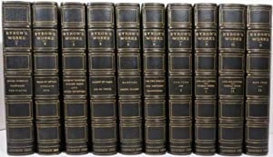 THE POETICAL WORKS OF LORD BYRON [with] LETTERS AND JOURNALS OF LORD BYRON by Thomas Moore