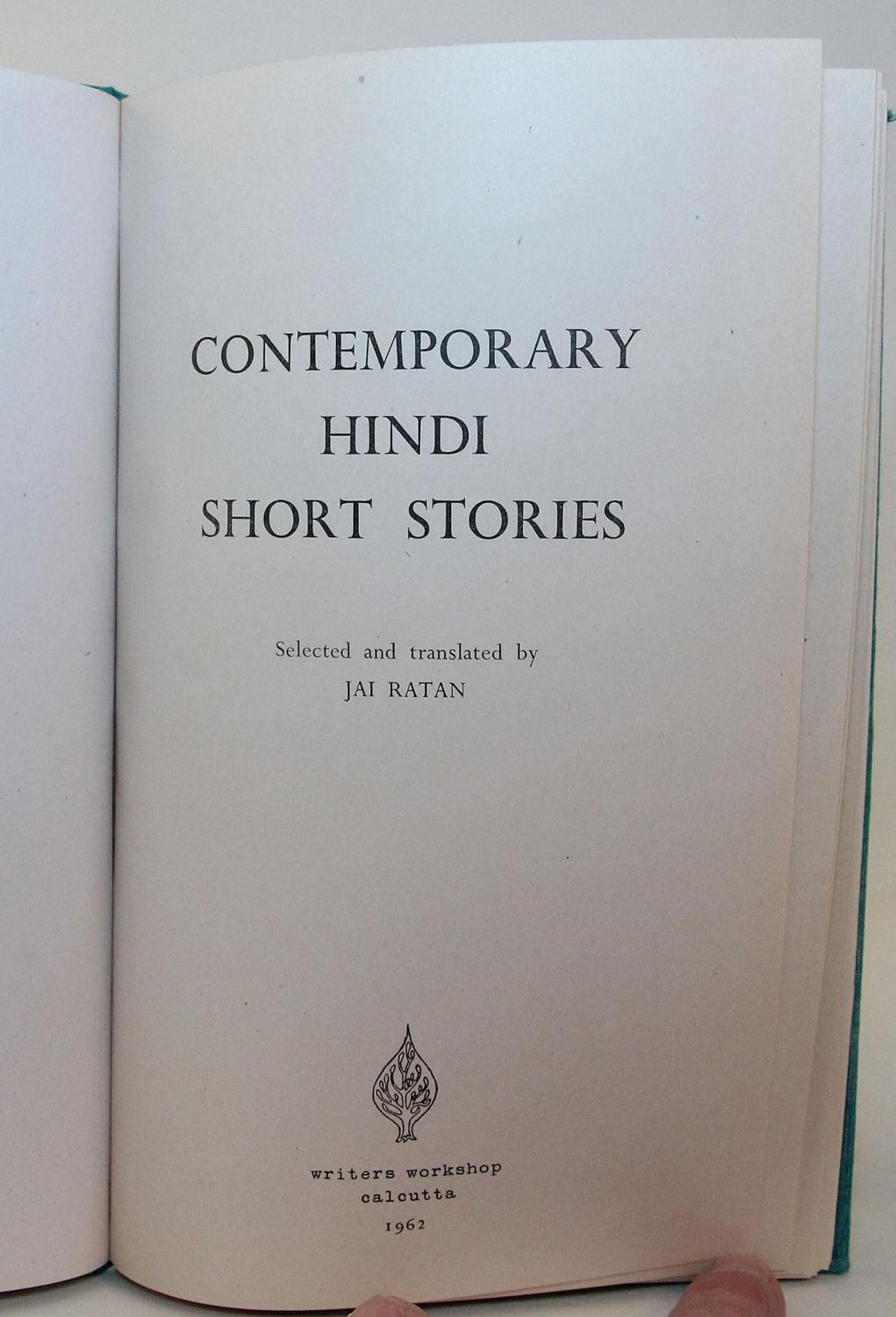 CONTEMPORARY HINDI SHORT STORIES  Selected