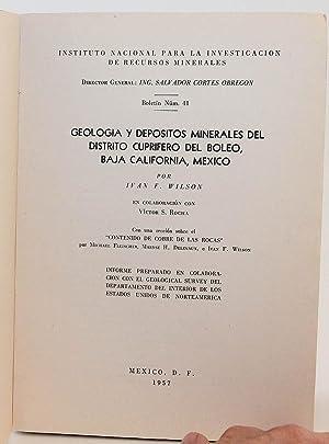 Geología y Depósitos Minerales Del Distrito Cuprífero Del Boleo, Baja ...