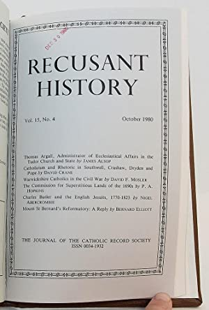 Recusant History: The Journal of the Catholic Record Society - Volume 15, May 1979 - October 1980 (...