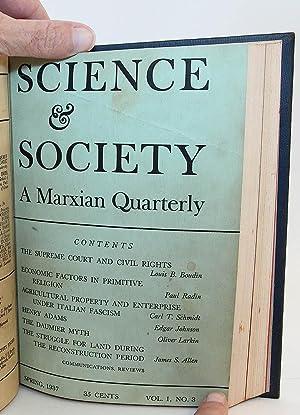 Science & Society: A Marxian Quarterly, Volume I, Nos. 1-4 (Winter-Fall, 1936-37)