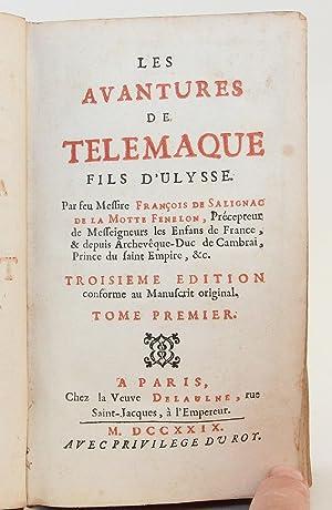 Les Avantures de Telemaque Fils d'Ulysse. Par feu Messire Francois de Salignac de la Motte ...