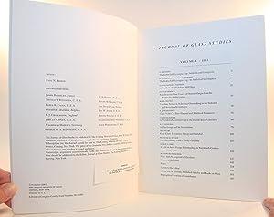 Journal of Glass Studies Volume V (5, Five) - 1963: Corning Museum of Glass