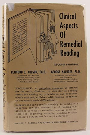 Clinical aspects of remedial reading.: KOLSON, Clifford J.