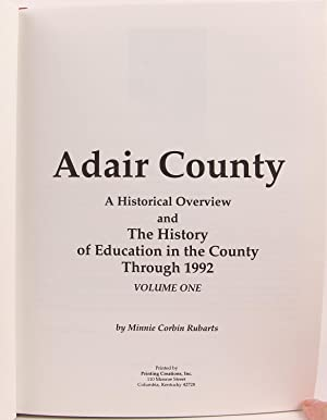 Adair County Historical Overview County and Schools 1700 - 1990: Rubarts, Minnie Corbin