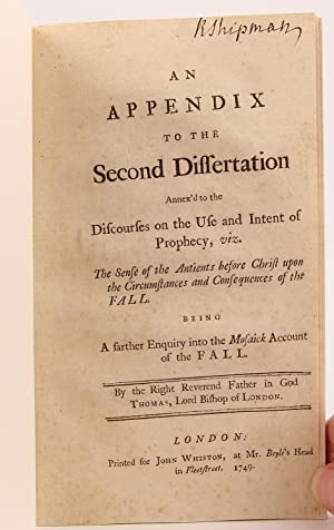 An appendix to the second dissertation annex'd to the discourses on the use and intent of ...