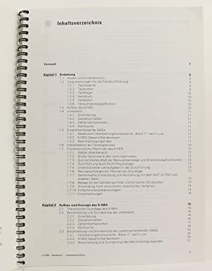 Kaufman-Neuropsychologischer Kurztest: K-NEK - Handbuch - Deutsche Fassung der Kaufman Short ...