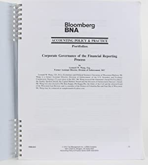 Corporate Governance of the Financial Reporting Process: Wang, Leonard W.