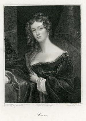 Portrait engraving of Serena.: ROBERTSON, Mrs.