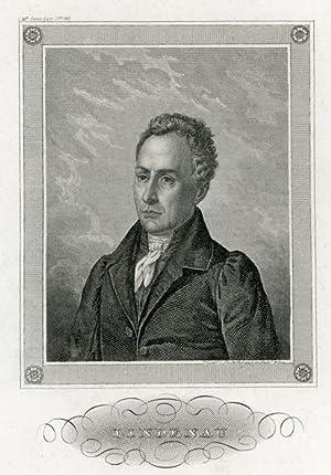 Portrait engraving of Bernhard August von Lindenau.: LINDENAU, B. A. von.