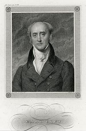 Portrait engraving of Earl Grey.: GREY, Earl.