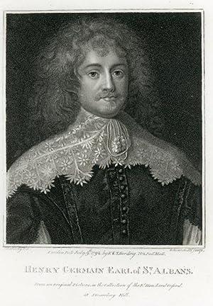 Portrait engraving of Henry Germain, Earl of St. Albans.: GERMAIN, Henry.