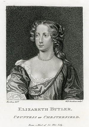 Portrait engraving of Elizabeth Butler, Countess of Chesterfield.: BUTLER, Elizabeth.