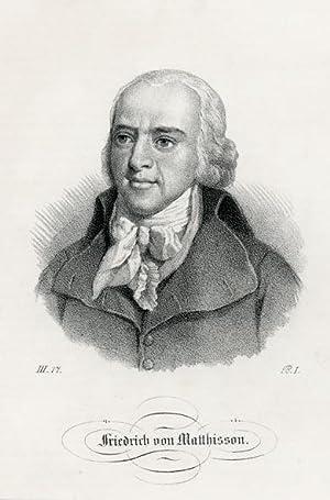 Portrait engraving of Friedrich von Matthisson.: MATTHISSON, Friedrich von.
