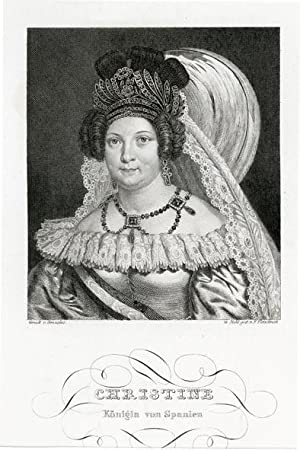Portrait engraving of Maria Christina of the Two Sicilies, and Queen of Spain.: MARIA CHRISTINA.