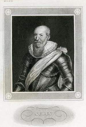 Portrait engraving of Maximilien de Bethune, Duke of Sully.: BETHUNE, Maximilien.