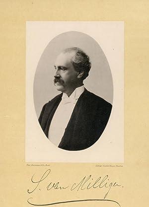 Portrait of Samuel van Milligen, photographed by: DEUTMANN & Zn.