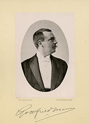 Portrait of Johann Gottfried Hendrik Mann, photographed: DEUTMANN & Zn.