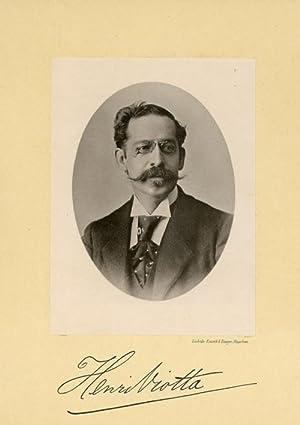 Portrait of Henricus Anastasius (Henri) Viotta, photographed: DEUTMANN & Zn.