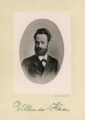 Portrait of Willem de Haan, photographed by: DEUTMANN & Zn.
