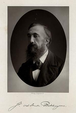 Portrait of Julius van de Sande Bakhuyzen.: SANDE BAKHUYZEN, J. van de.