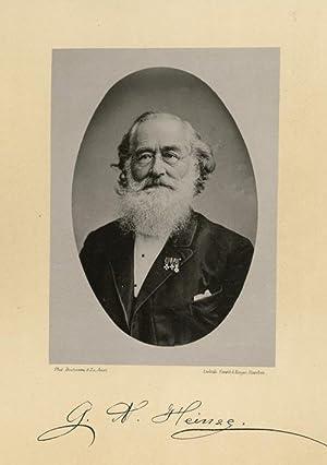 Portrait of Gustav Adolph Heinze, photographed by: DEUTMANN & Zn.