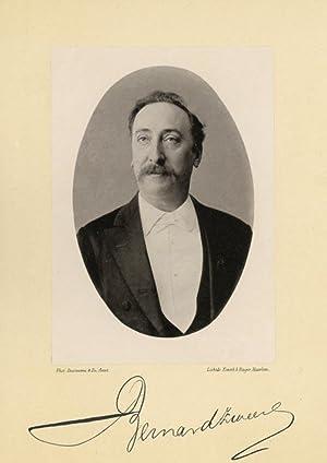 Portrait of Bernard Zweers, photographed by Deutmann: DEUTMANN & Zn.