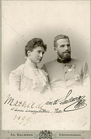 Portrait of Ludwig Gaston Klemens Maria of Saxe-Coburg and Gotha & Princess Mathilde of Bavaria...