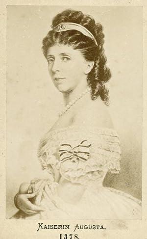 Portrait of Empress Augusta of Saxe-Weimar-Eisenach.: AUGUSTA, Empress.