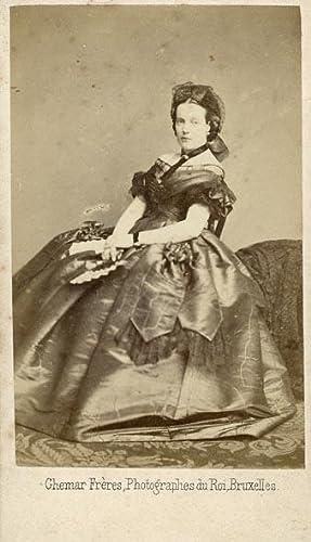 Portrait of Marie Henriette of Austria, queen consort of King Leopold II of Belgium.: GHÉMAR FRÈRES...