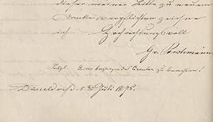 Autograph Letter, Düsseldorf. 22. Juni 74.: CAMPHAUSEN, Wilhelm, Maler (1815-1885).