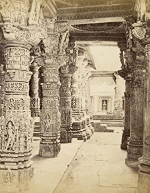 Interior of the Jain temple at Dilwara on Mount Abu.: BOURNE, Samuel & SHEPHERD.