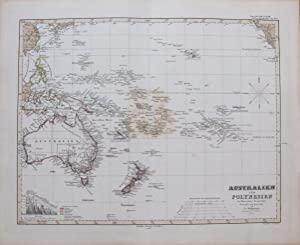 Australien und Polynesien in Mercators Projection.: STIELER, Adolf.