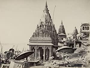 Benares. - Temple near the Vishnu Pud.: FRITH, Frances & Co. (Frith's Series).