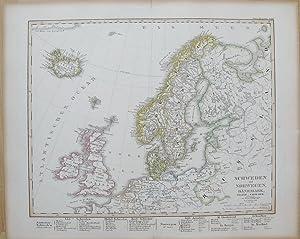 Schweden und Norwegen, Dänemark, Island und Faer-öer: STIELER, Adolf.