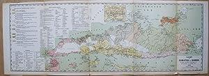 Kaart van Sumatra en Banka, bevattende verschillende aanwijzingen van administratieven en ...