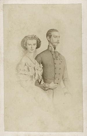 Portrait Franz Josef and Elisabeth Amalie Eugenie. Emperor and Empress consort of Austria.: DURONI ...