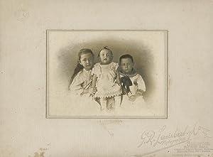 Portrait of three children.: LAMBERT & Co, G. R.