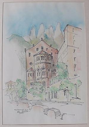 Montserrat. Espana. Monasterio de Santa María.: VERMEULEN, W.