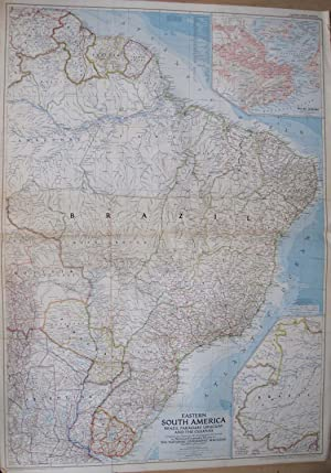 Eastern South America. Brazil, Paraguay, Uruguay and the Guianas.: LA GORCE, John Oliver (Editor).