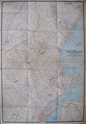 A Map of New England. With Desriptive Notes.: LA GORCE, John Oliver (Editor).
