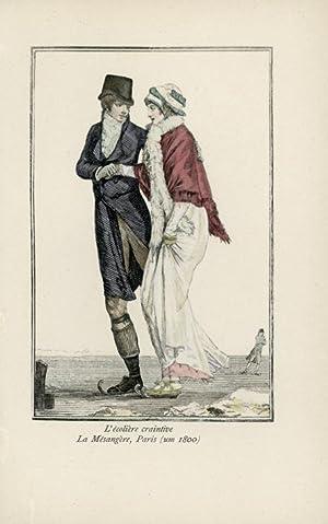 L'écolière craintive. La Mésangère, Paris (um 1800).: BOEHN, Max von.