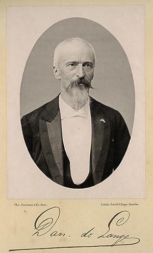 Portrait of Daniel de Lange, photographed by: DEUTMANN & Zn.