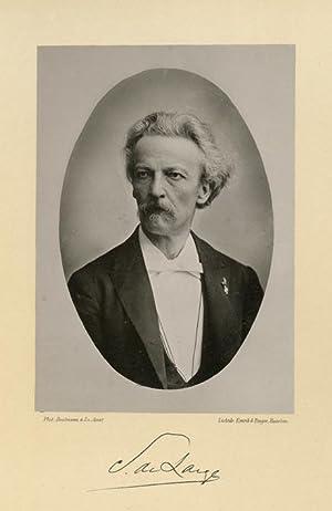 Portrait of Samuel de Lange Jr., photographed: DEUTMANN & Zn.