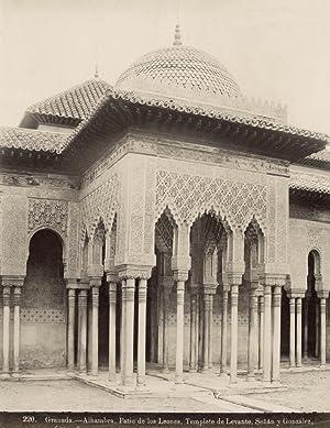 Granada.- Alhambra. Patio de los Leones. Templete de Levante.: SEÑÁN Y GONZÁLEZ.